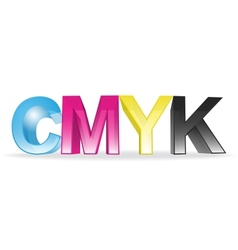 CMYK concept vector image