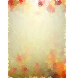 Colorful autumn leaves template pattern EPS 10 vector image