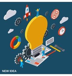 Creative idea flat isometric concept vector image vector image