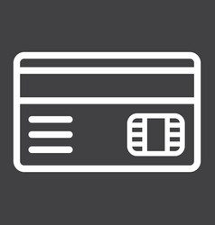 Credit card line icon bank and business vector