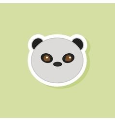 Cute panda face vector