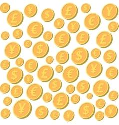 Falling coins vector