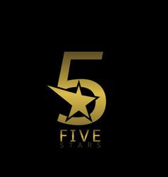 Five stars label vector