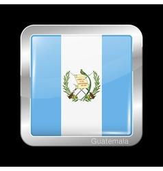 Flag of Guatemala Metal Icon Square Shape vector image