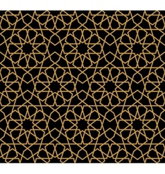 Gorgeous Seamless Arabic Pattern Design vector image
