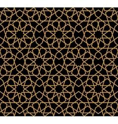 Gorgeous seamless arabic pattern design vector