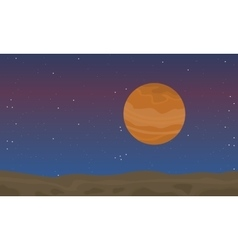 Landscape space with desert collection vector image