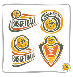 Logo basketball ball vector