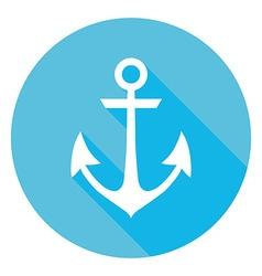 Marine Anchor Circle Icon vector image vector image