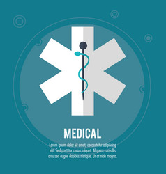 Medical health care symbol design vector
