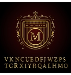 Monogram design elements english letters vector