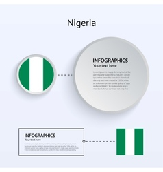 Nigeria country set of banners vector