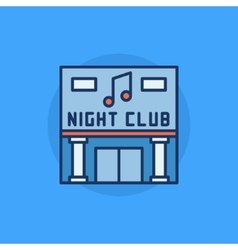 Night club building flat icon vector