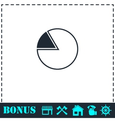 Pie Chart icon flat vector image