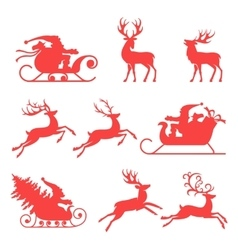 Reindeer and Santa Claus The best element for vector image vector image