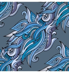 seamless abstract nature pattern vector image vector image