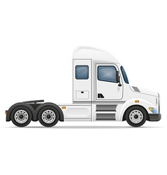 Semi truck trailer 01 vector