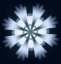 shining snowflake vector image vector image