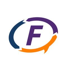smart solution letter f vector image
