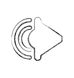 Speaker sound isolated icon vector