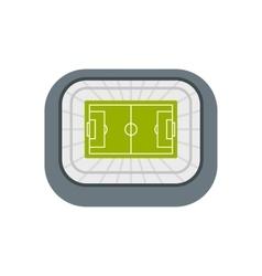 Stadium top view icon flat style vector image