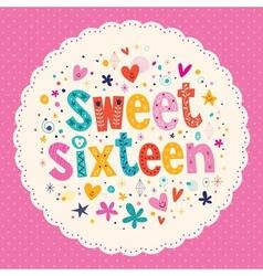 Sweet sixteen card vector