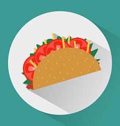 Taco colorful round icon vector