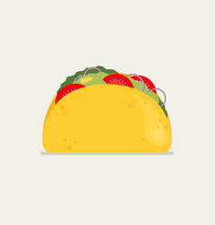 Taco in flat style vector
