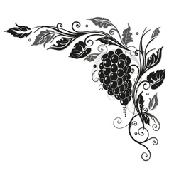 Wine vine border vector