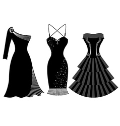 Woman Party Dress Silhouette vector image