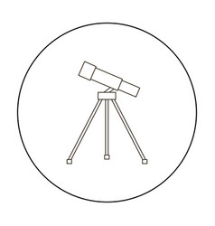 Telescope icon outline single education icon from vector