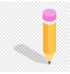 pencil isometric icon vector image