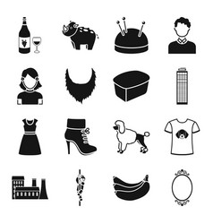 Animal atelier skyscraper and other web icon in vector