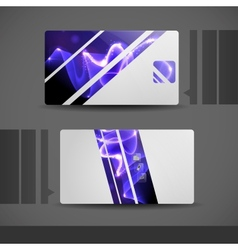 Blue Modern Business Card vector image