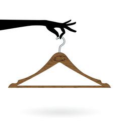 Hand hold hanger vector
