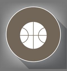 Basketball ball sign   white vector