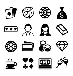 Gambling and Casino Icons Set vector image