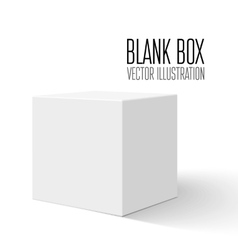 White blank box vector image