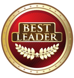 Best Leader Red Award vector image
