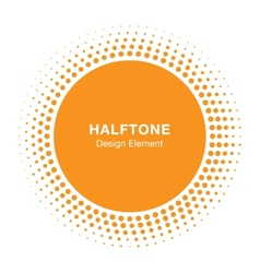Sunny halftone design element vector