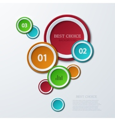 Modern circle infographics background vector