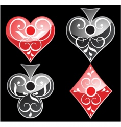 Playing card icons vector