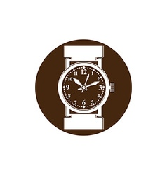 Graphic pocket watch wristwatch with dial and an vector