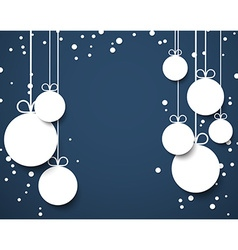 Christmas dark blue abstract background vector