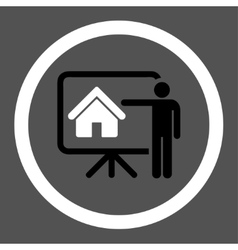 Realtor flat black and white colors rounded vector