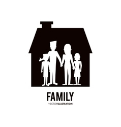Graphic of family design vector