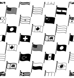Simple curved flags of different country seamless vector