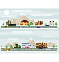 Winter city vector image