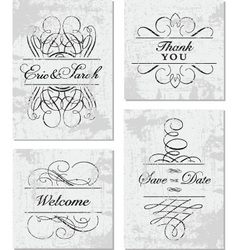 Grunge Ornament Frame Set vector image