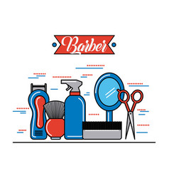 barber shop accessories vector image